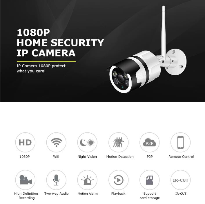 1080P Night Vision Auto Tracking outdoor Security Camera
