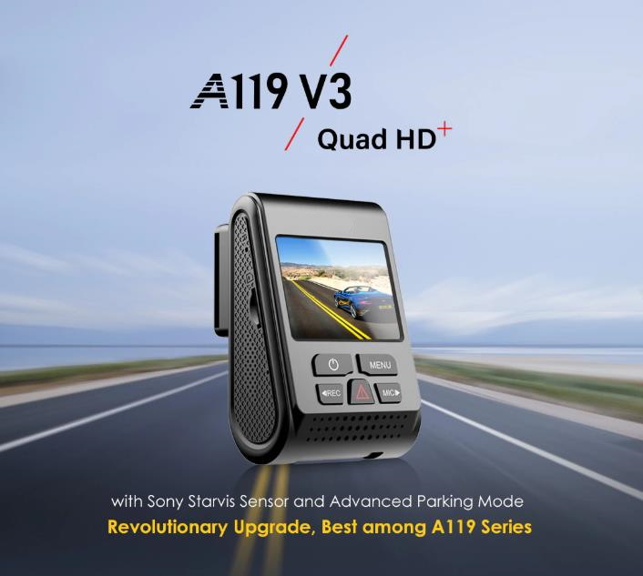 1600P Car Dash Camera with Super Night Vision and Parking Mode-