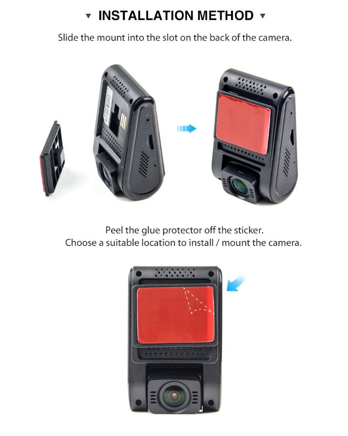 1600P Car Dash Camera with Super Night Vision and Parking Mode