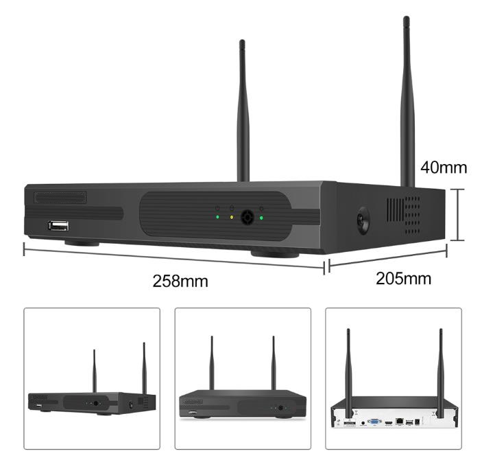 Multi Channel outdoor Security System with Recorder