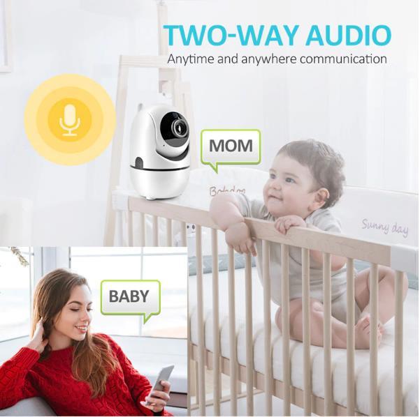 Night Vision Auto Tracking indoor Security Camera