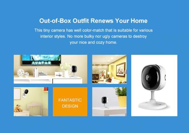 Ultra Wide Lens wireless compact FHD Security Camera