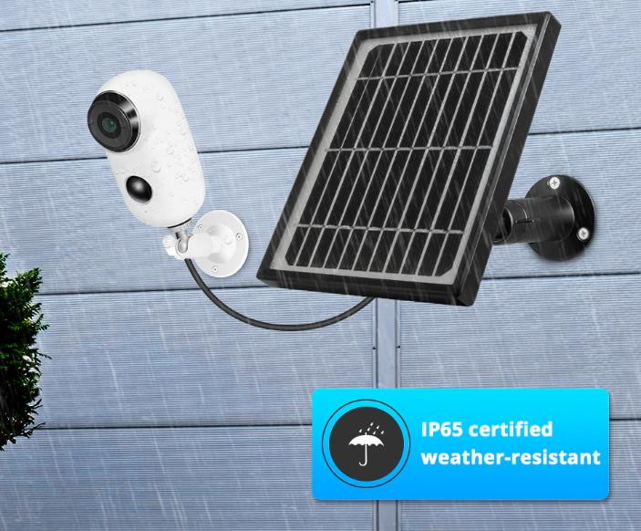 Wireless Solar Battery Powered Outdoor Security Camera