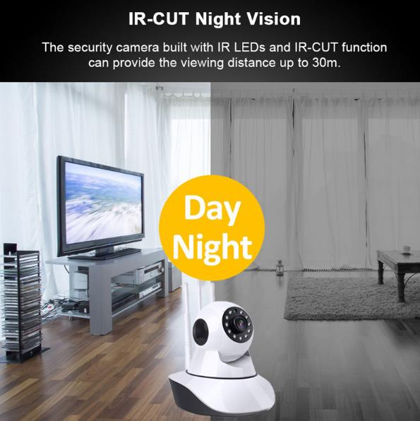 1080p Night Vision Auto Tracking Wi-Fi Home Security Camera